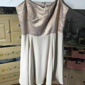 Worn Once Formal Gold Sparkle Express Dress